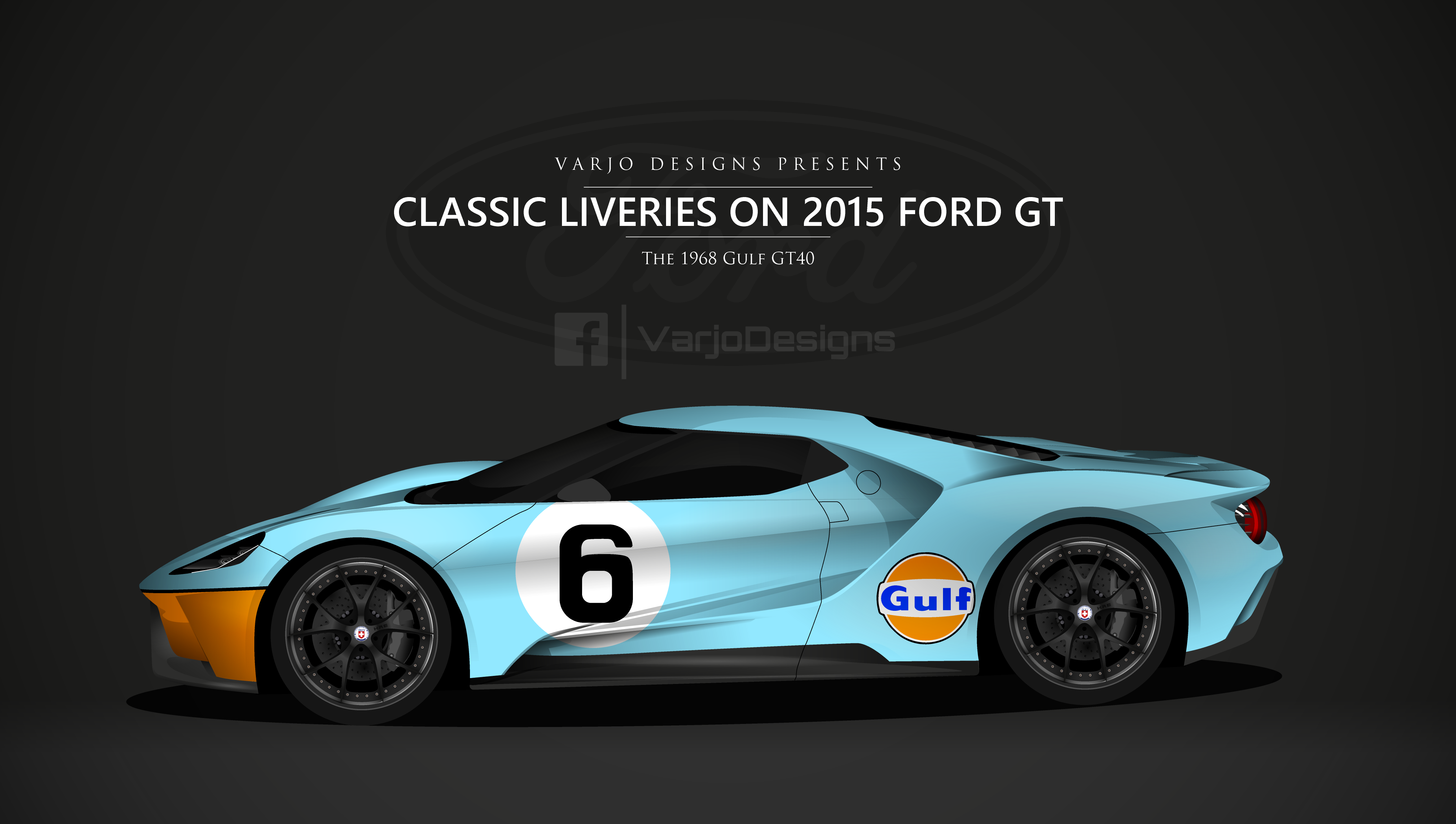 And Cant Post Classic Ford Le Mans Liveries Without This The Gulf Livery As Inspired By The Gulf Gt