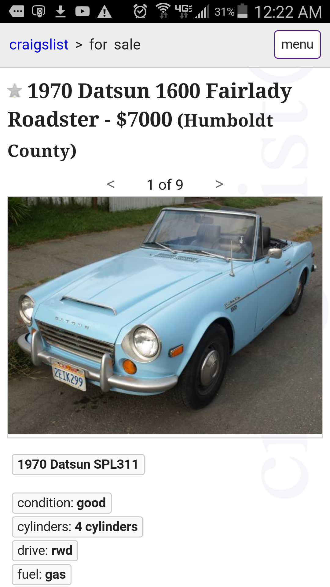 I want to see what fun cars yall can find on craigslist for 8 grand