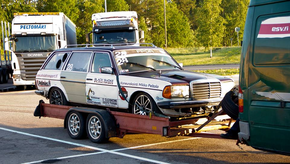 This Evil Diesel Mercedes Wagon Makes All Other Drift Cars Look Like