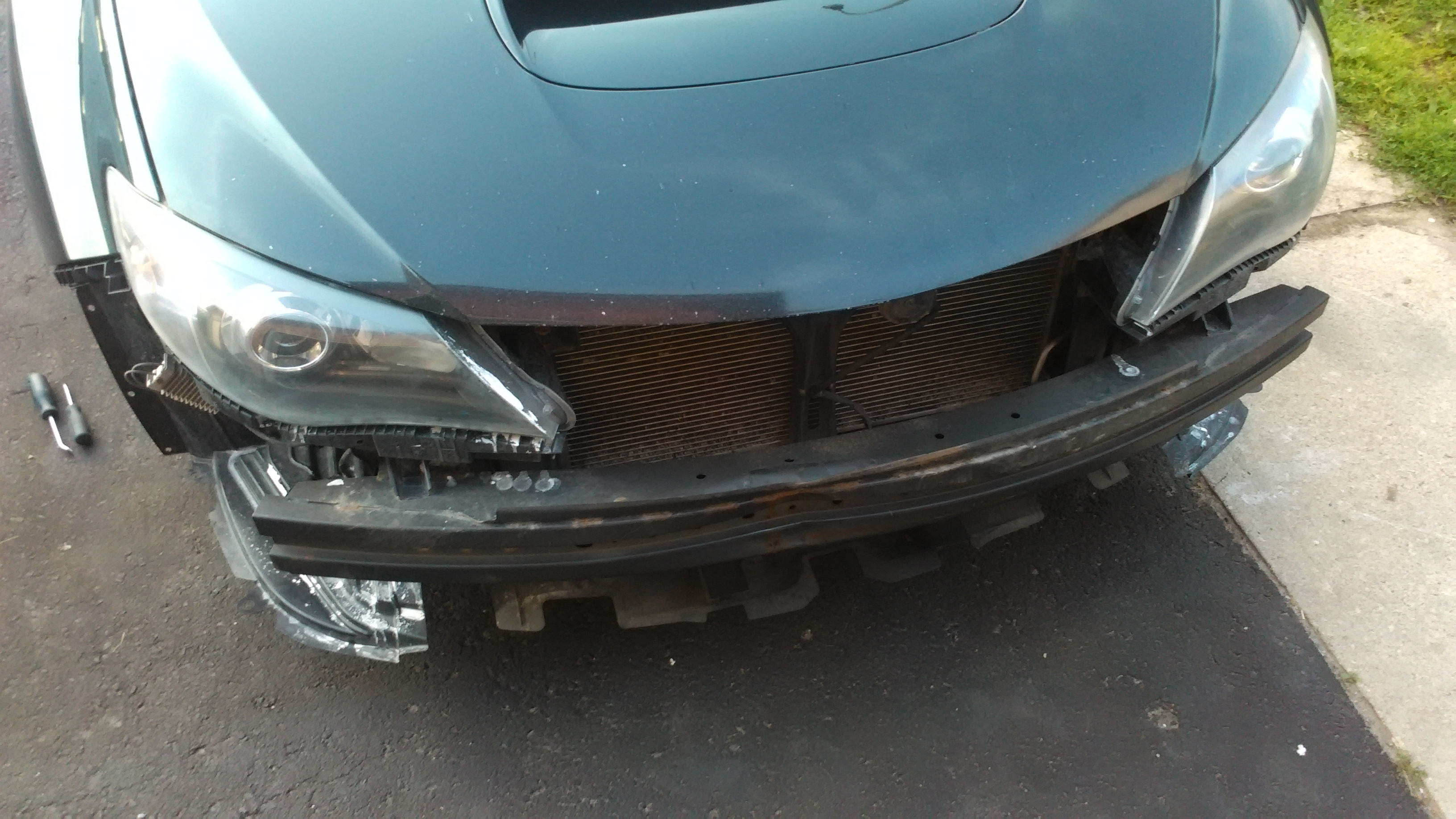 I took my front bumper cover off, to see why the bumper was