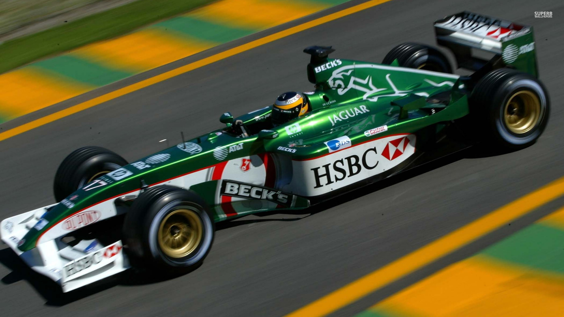 Jaguar racing f1 concept on british racing green