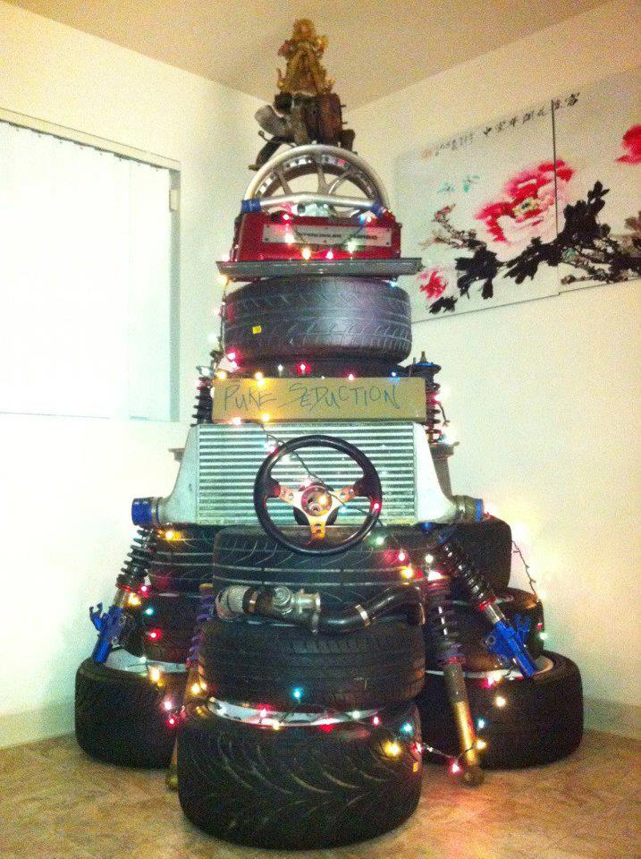 Car Christmas Tree.Submit Your Car Themed Christmas Tree To Win A Secret Santa