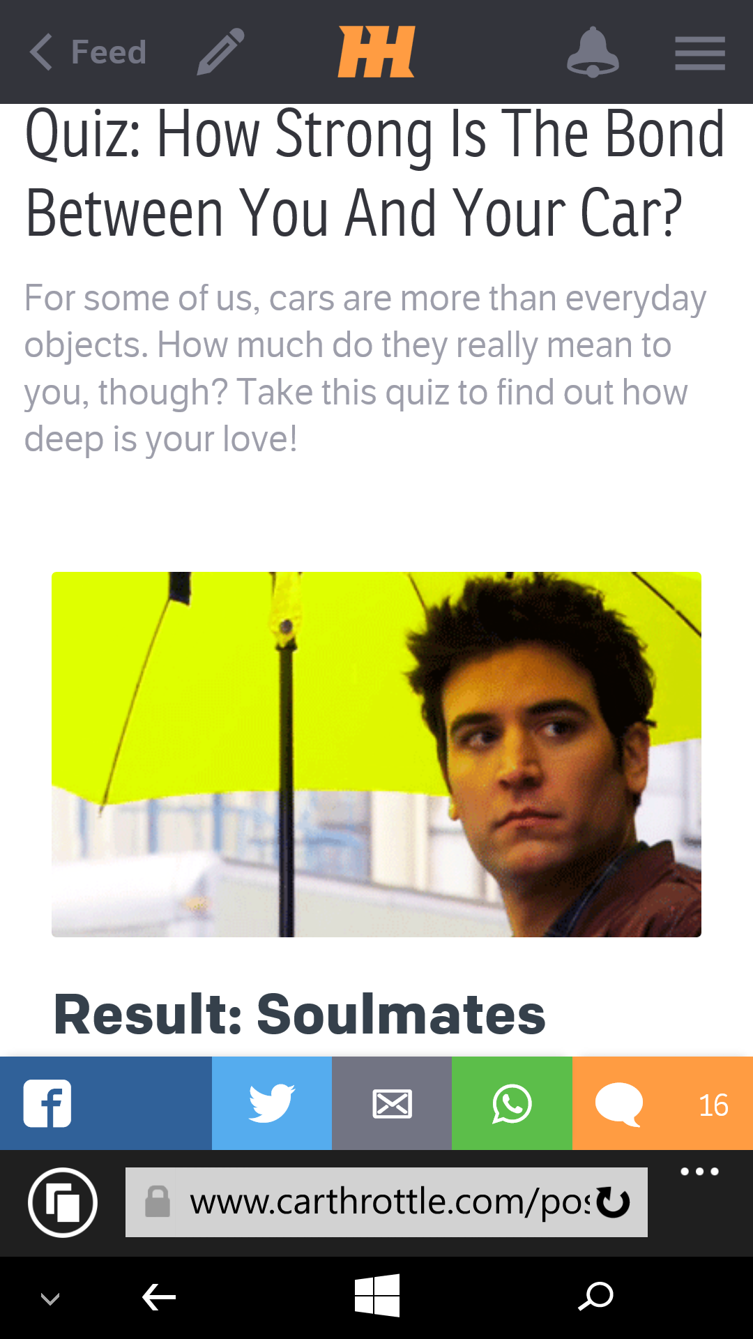 how deep is your love quiz