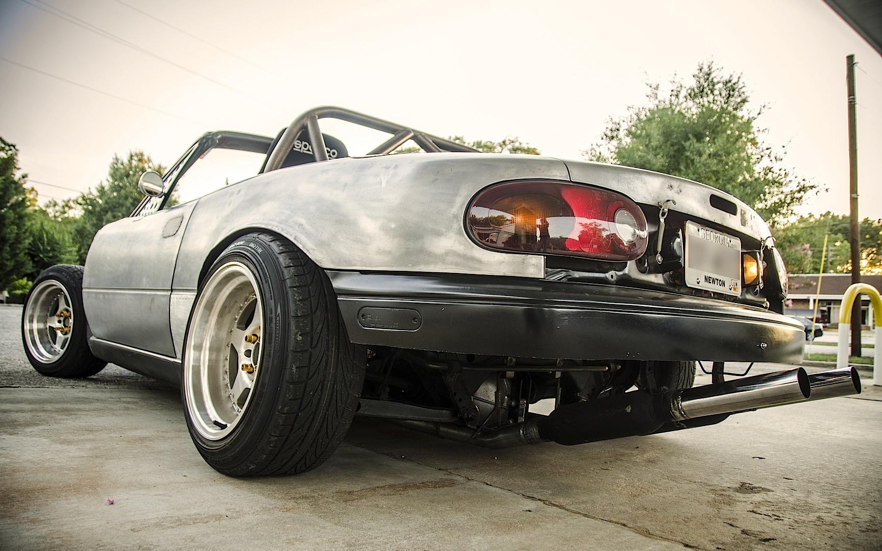 Mazda Miata (MX-5) Rat Rod powered by 302 V8 engine (more pics in