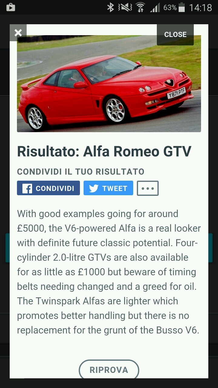 Which Future Classic Is Right For You Alfa Romeo Timing Belt Me Too This Was The Exact Car I Thinking About While Doing Quiz