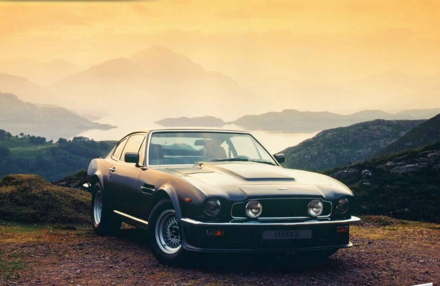 the aston martin v8 vantage is the most muscle of all non american muscle cars