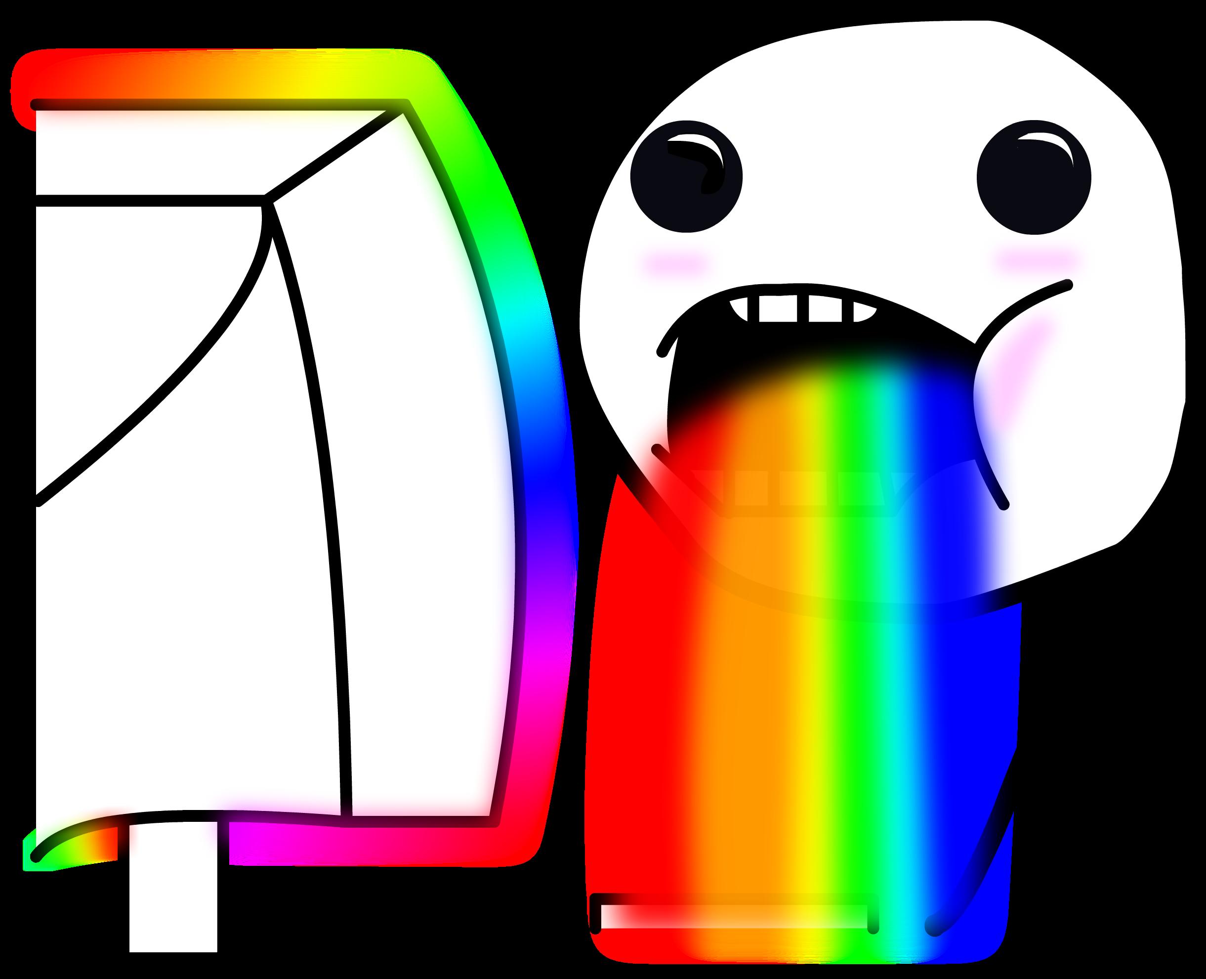 Как сделать радугу изо рта