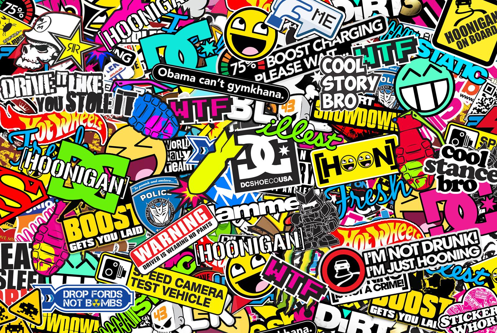 Sticker bomb car design - 9 Comments