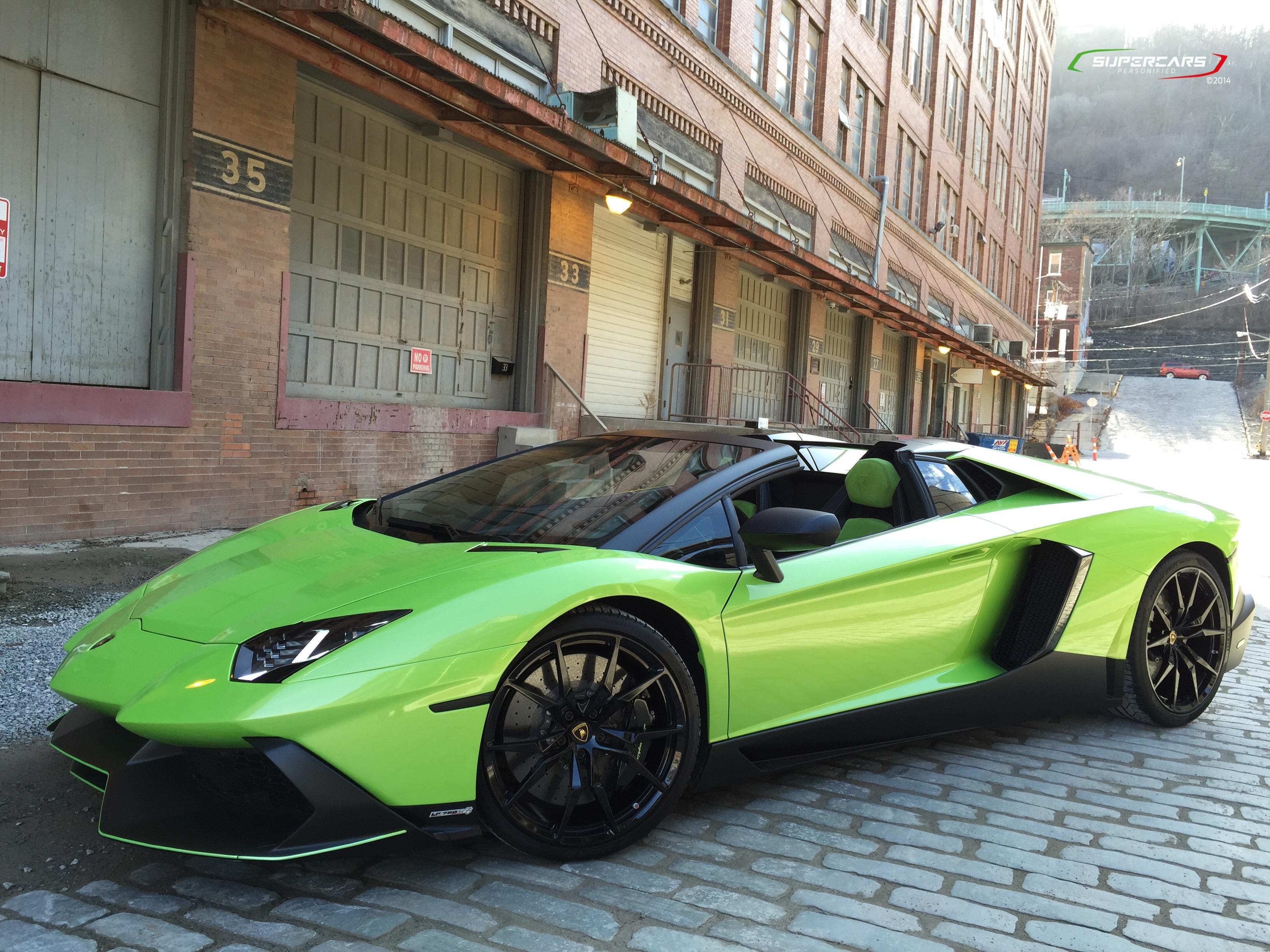 green lamborghini aventador 2014 wwwpixsharkcom