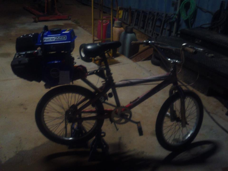 Here is my bike since im only 14 this is what i can get i for I need a motor for my car