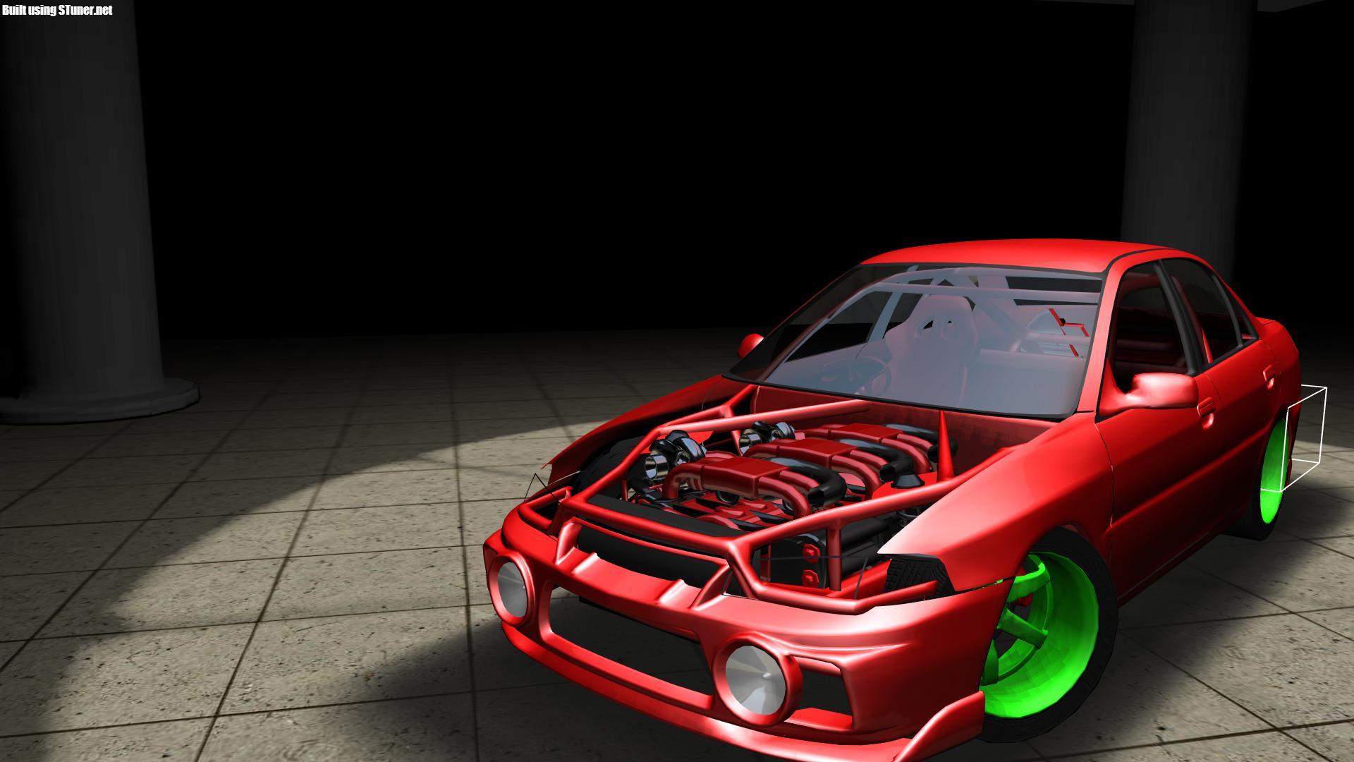 12 Cylinder Boxer on Mitsubishi Lancer Evolution 4 because