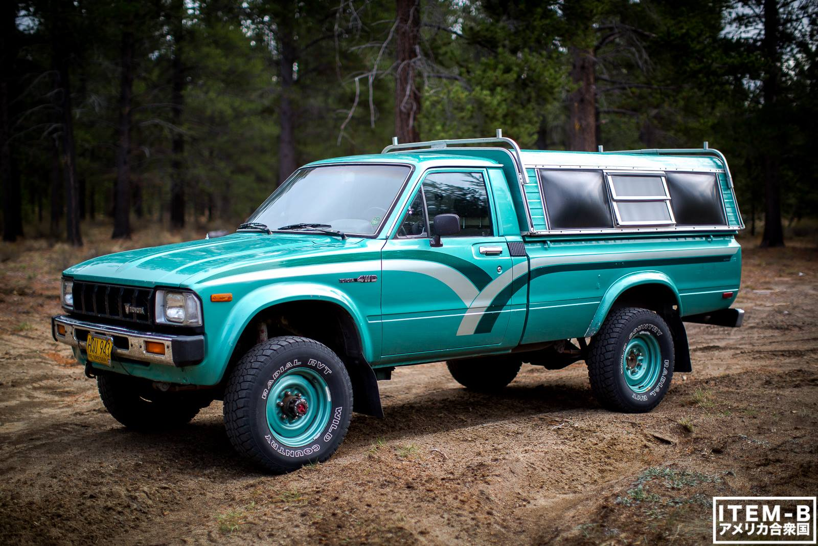 That Classic 80s Color Combo 1st Gen Toyota Pickup 4x4 3