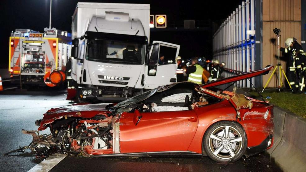 Ferrari F12 Crashes In Bavaria 42 Yo Driver Passes Away 3 Yo Son With Escapes With Minor Injuries