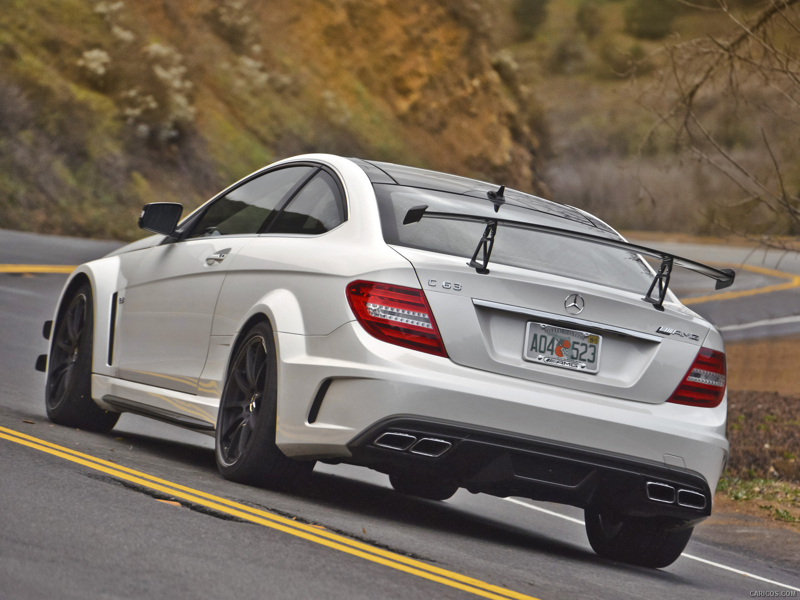 Mercedes benz c63 amg black series from behind the very for Looking for used mercedes benz