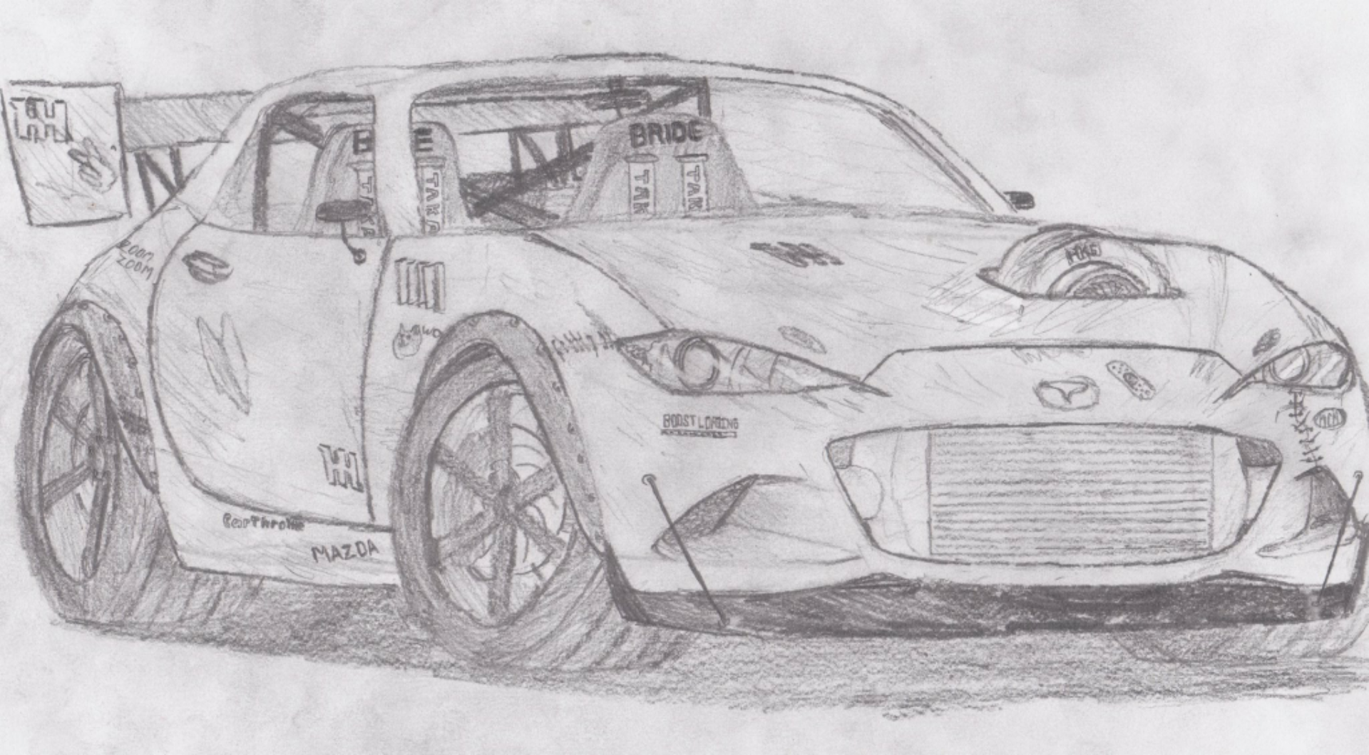Stayed Up Half The Night Drawing A Gen Mx Drift Car Sort Of