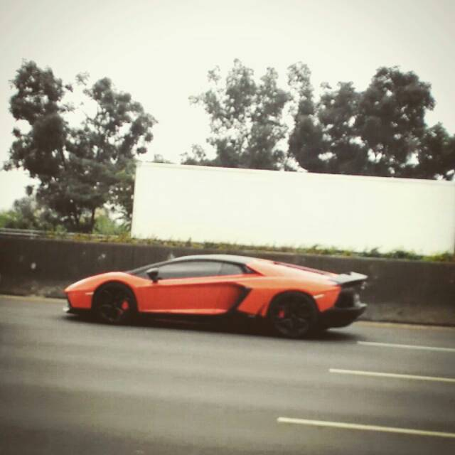 Lamborghini Aventador In Indonesia Highway