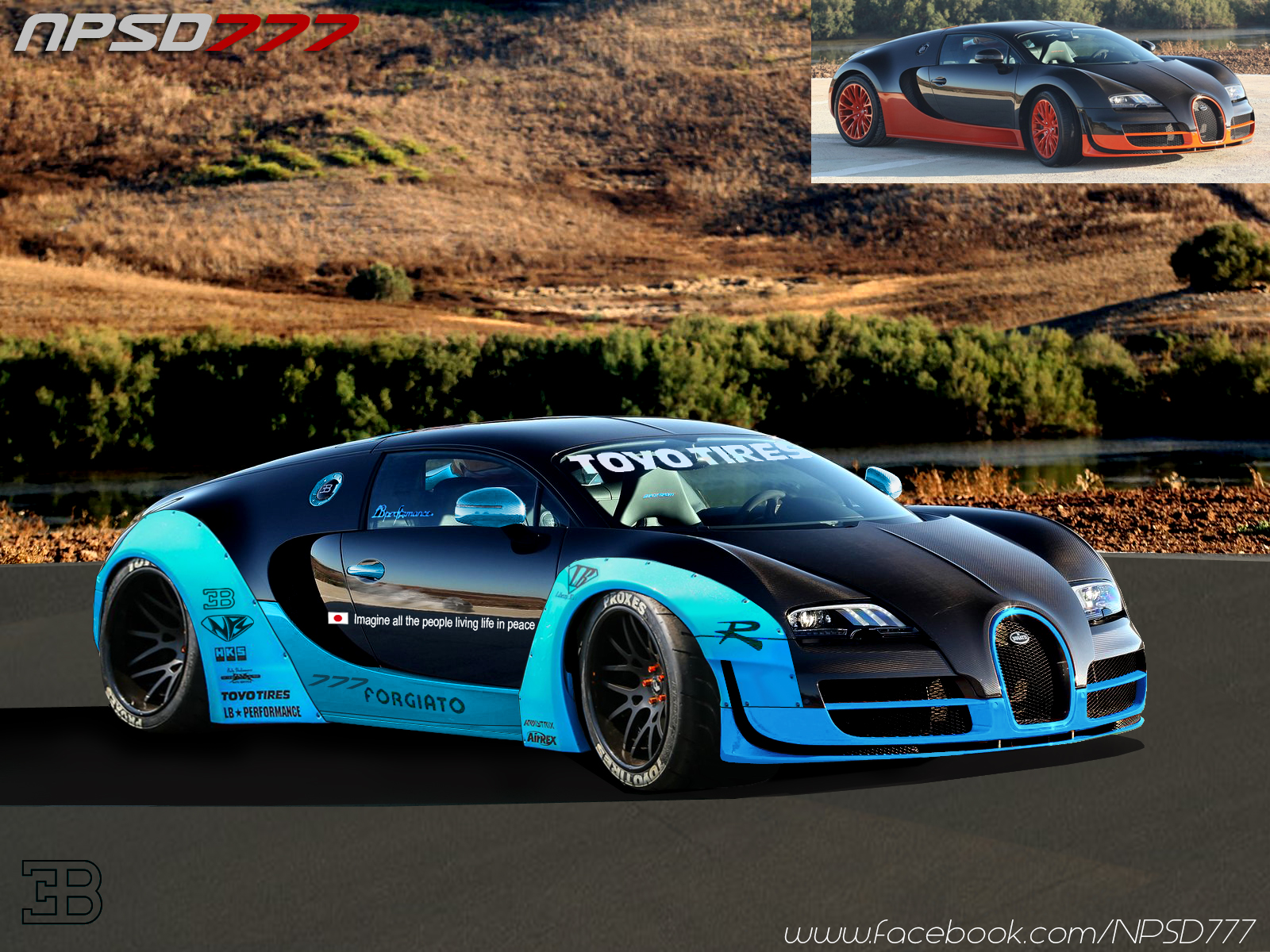Lb Works Liberty Walk Bugatti Veyron Super Sport By Nps