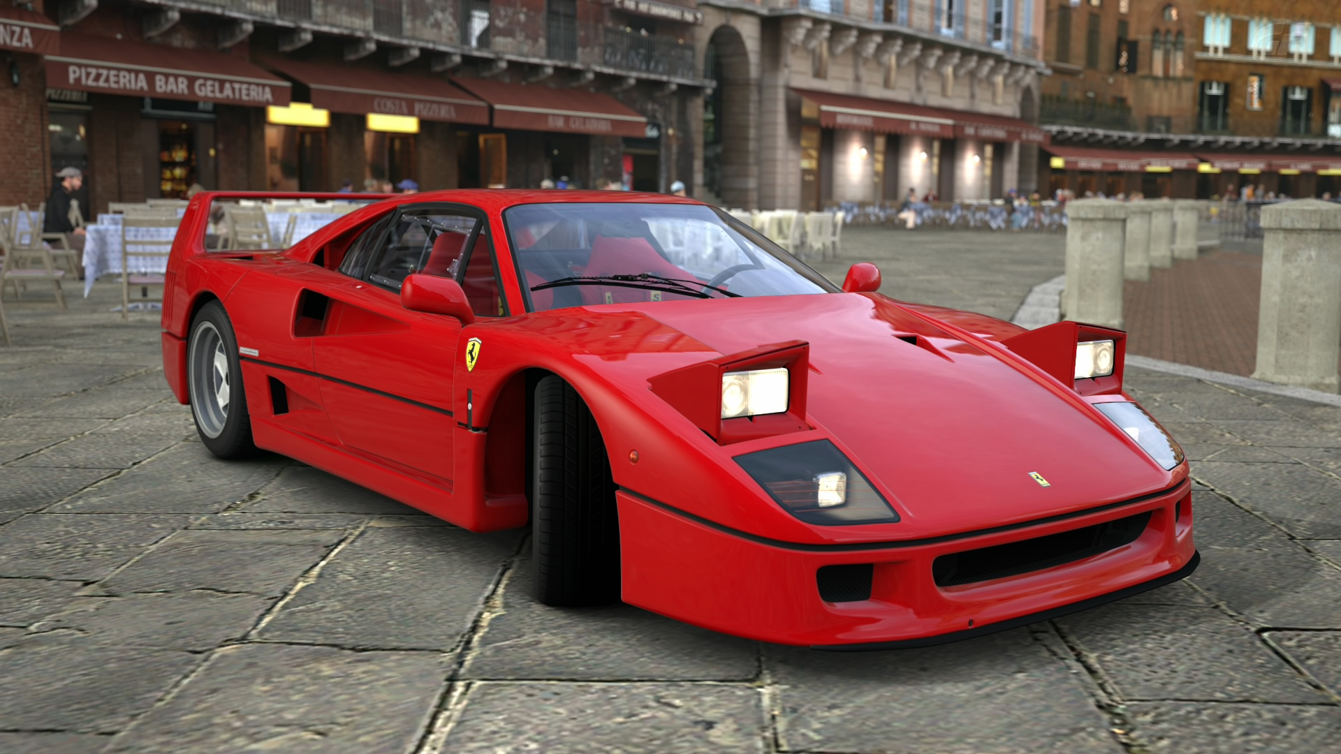 Ferrari F40 with pop up headlights. It seemed to be just perfect and ...