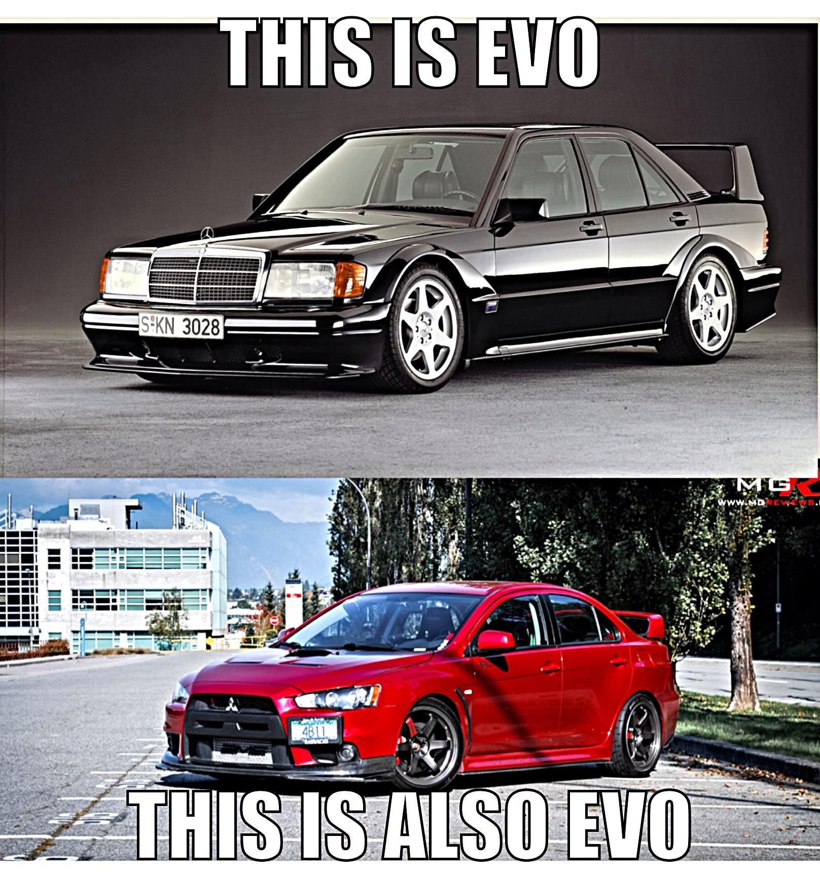 Mitsubishi evo meme