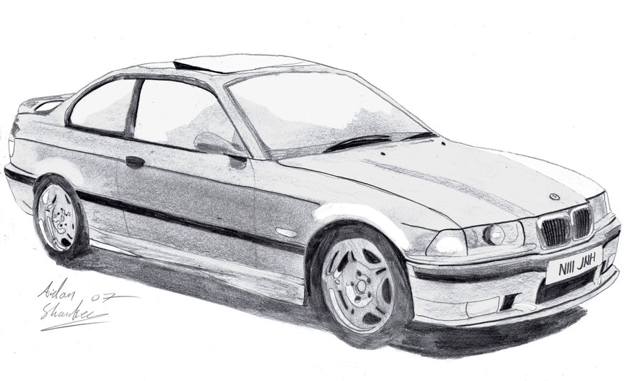 old drawing i did of a e36 M3 back in highschool
