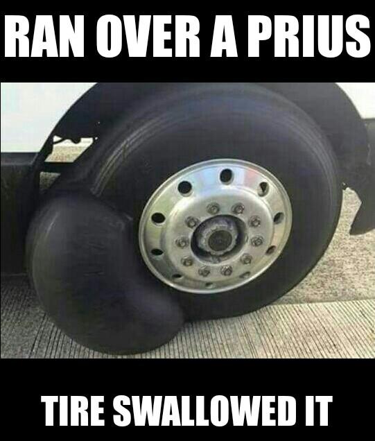 Ran Over A Prius