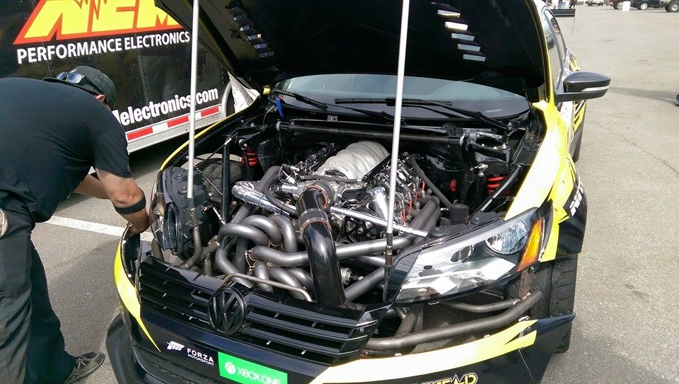 Tanner Foust Vw >> Have A Quick Look At What S Under The Hood Of Tanner Foust S
