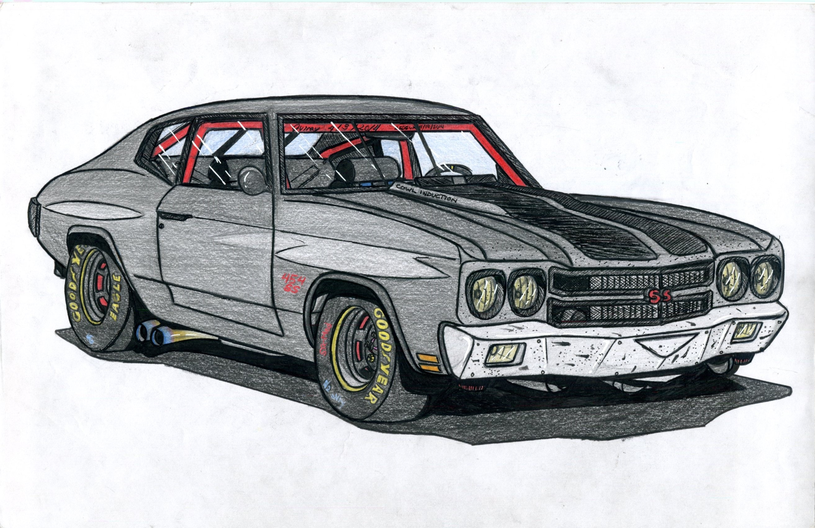 Found this in my USB  It's a track-prepped 70' Chevy Chevelle SS 454