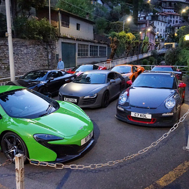 Supercar Parking At Tonight S Hotel At Lake Como