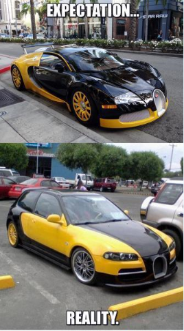 Bugatti Veyron Quot Expectation Vs Reality Quot Meme