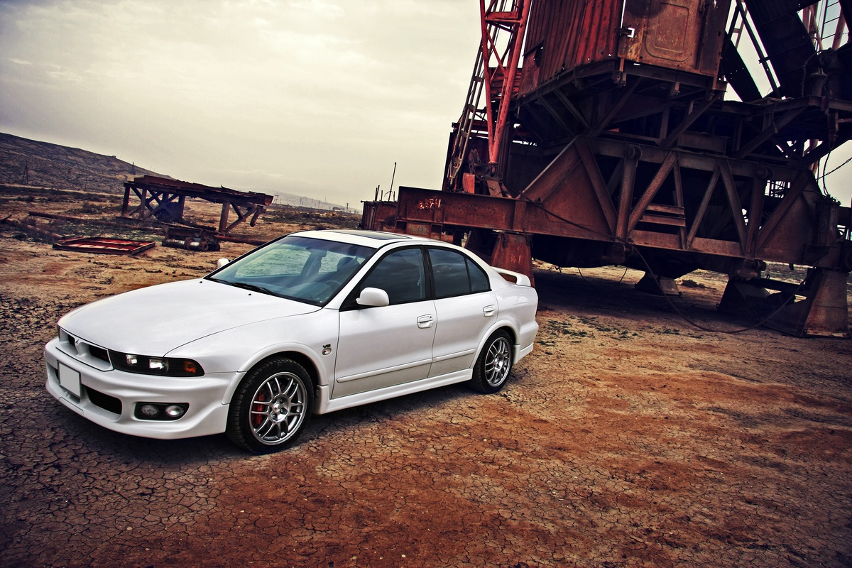 mitsubishi galant vr4, one of the meanest looking cars out there. to