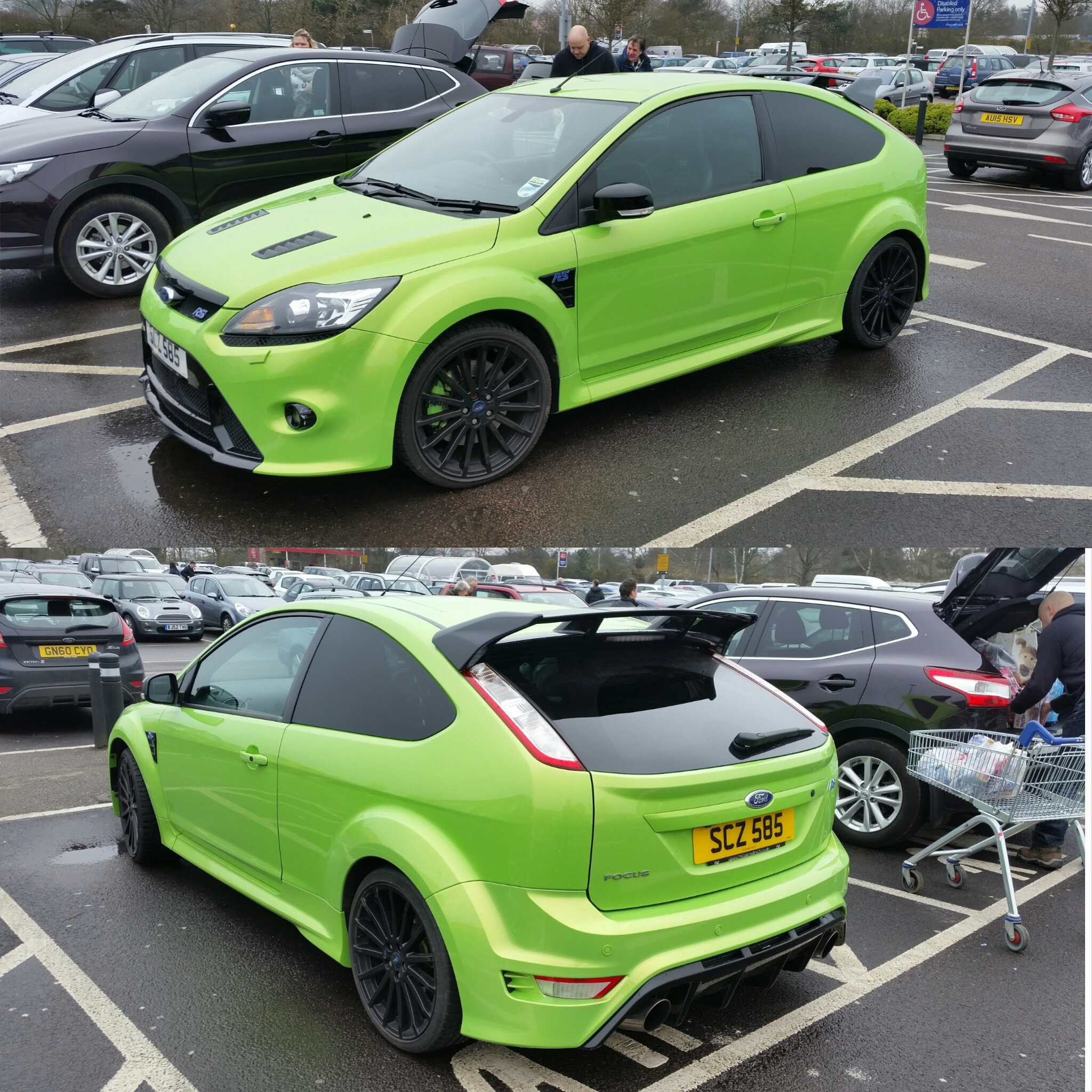 beautiful ultimate green ford focus rs mk2. Black Bedroom Furniture Sets. Home Design Ideas