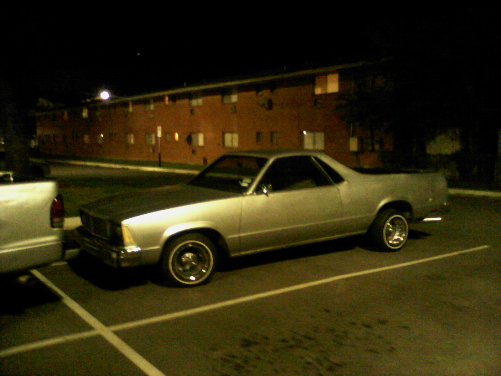 79 El Camino on wire wheels. Although I wouldn\'t put them on my own ...