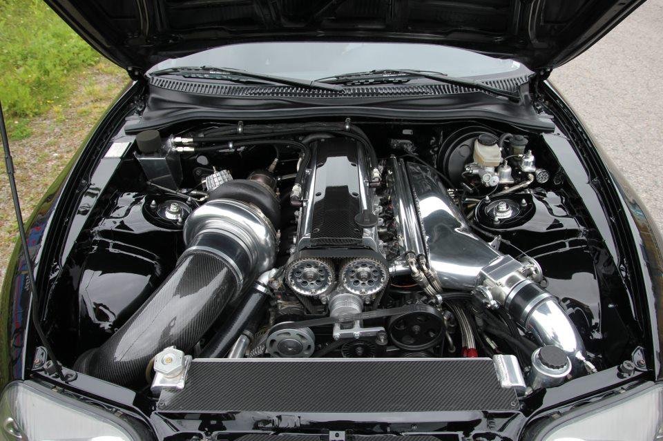 Clean Supra Engine Bay
