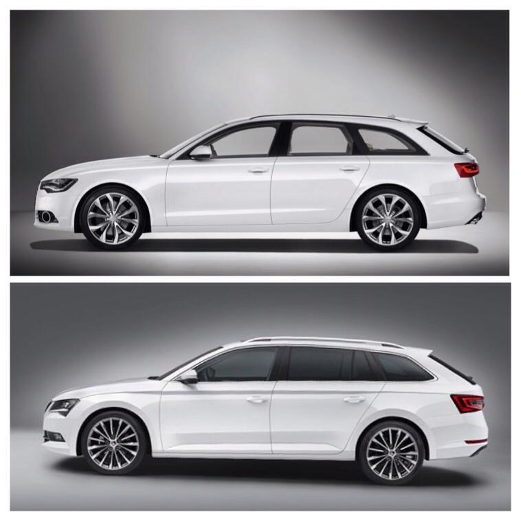 New Skoda Superb Combi Compared To Audi A6