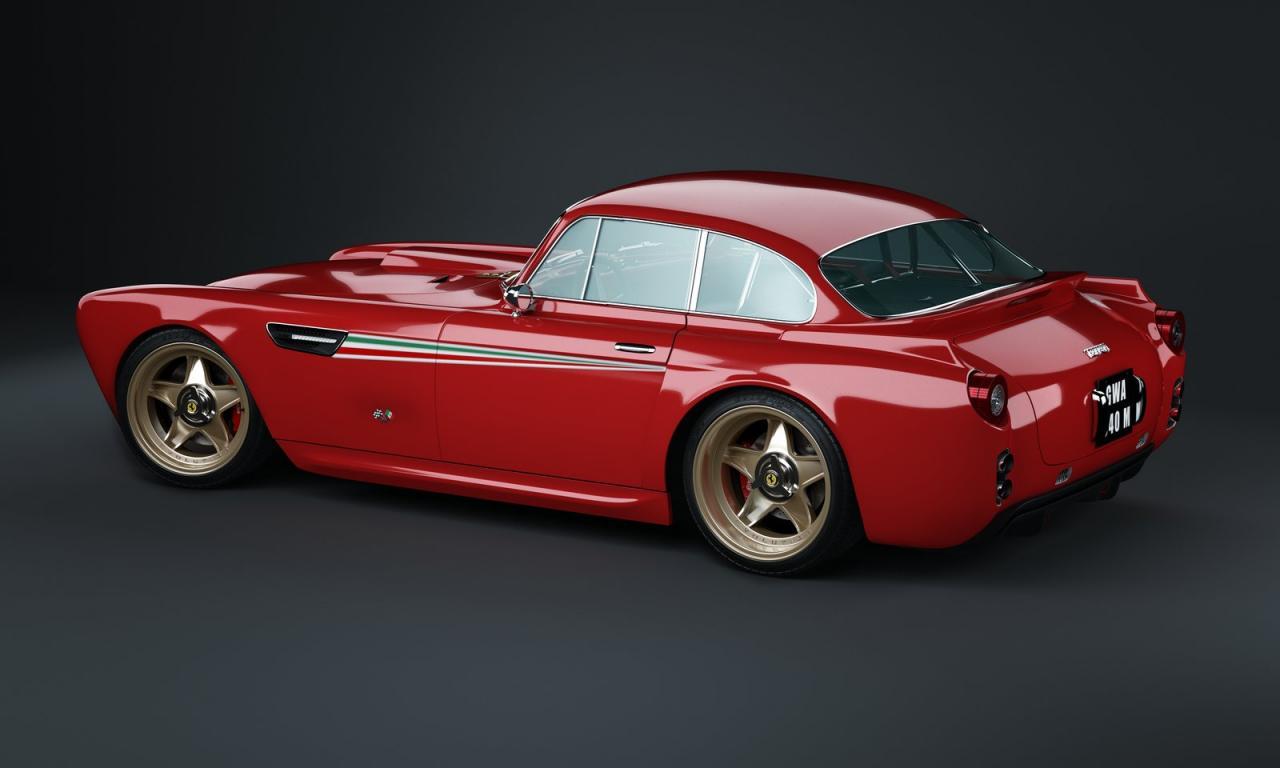 The rear of this rare 1 off custom built Ferrari!