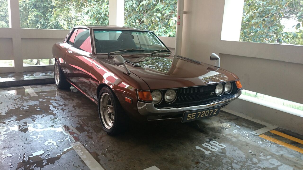 1972 toyota celica coupe st manual w lowering kit new rims and wider tires spotted in singapore