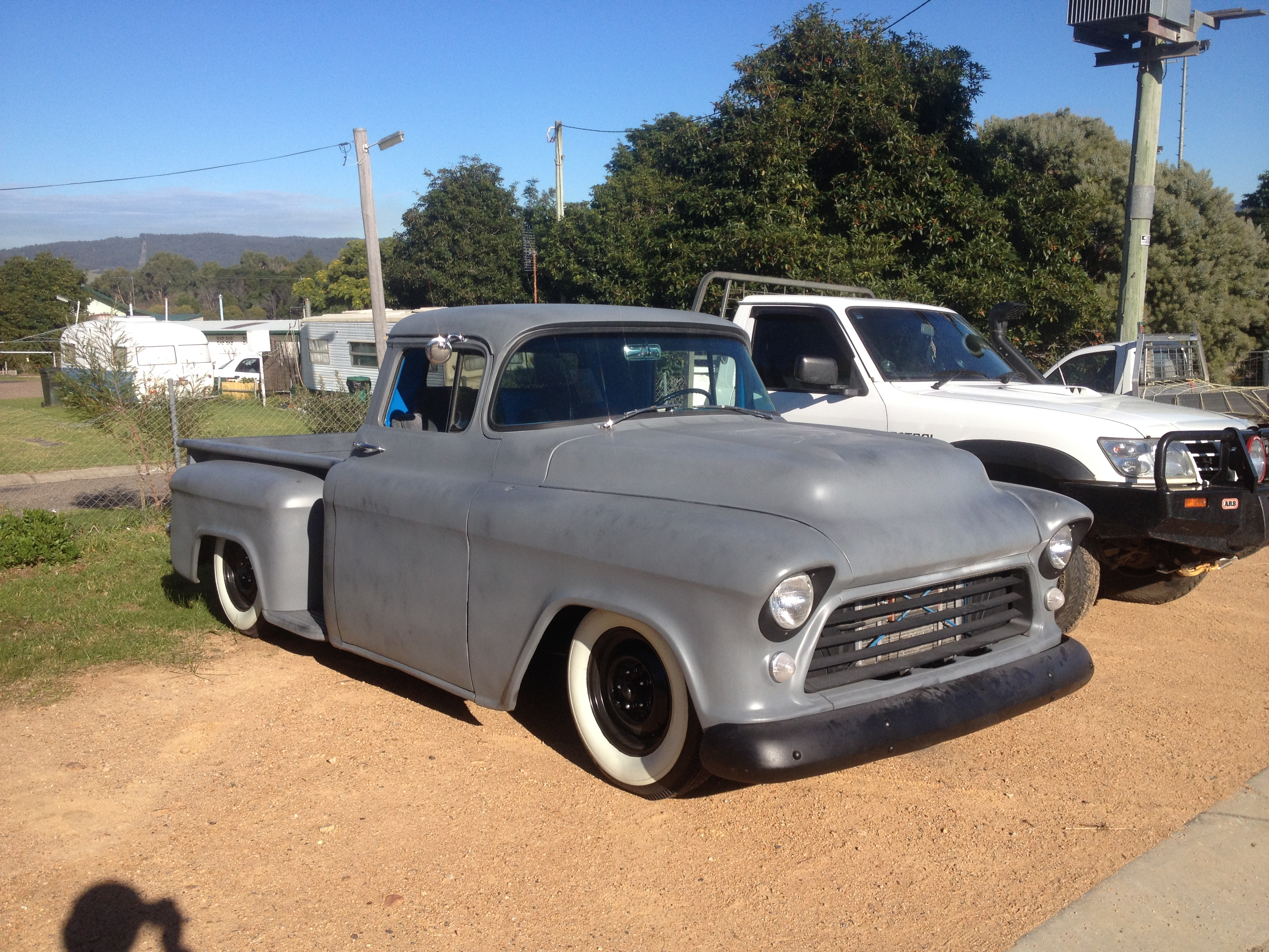 Spotted this slammed truck today, a pretty rare sight here in ...