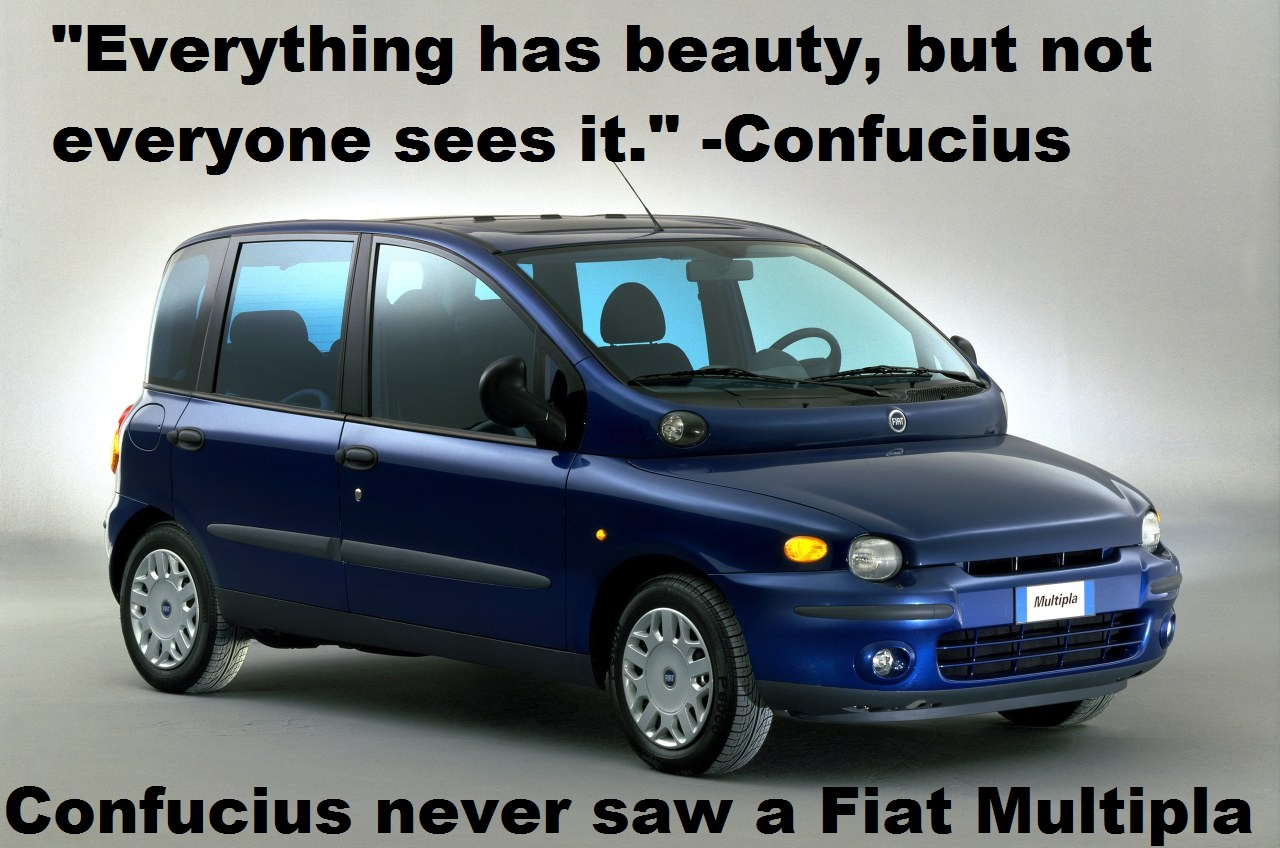Confucius Never Saw A Fiat Multipla