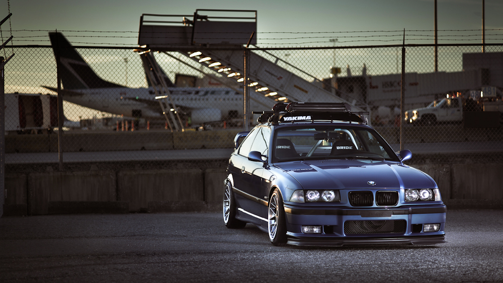 My New Wallpaper Is This E36 M3 Looking Cool In Blue