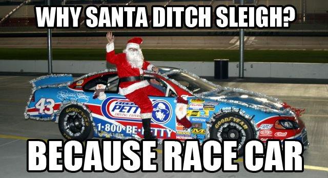 Kids: Yay Santa is here   Kids:   Why is he pulling away dad