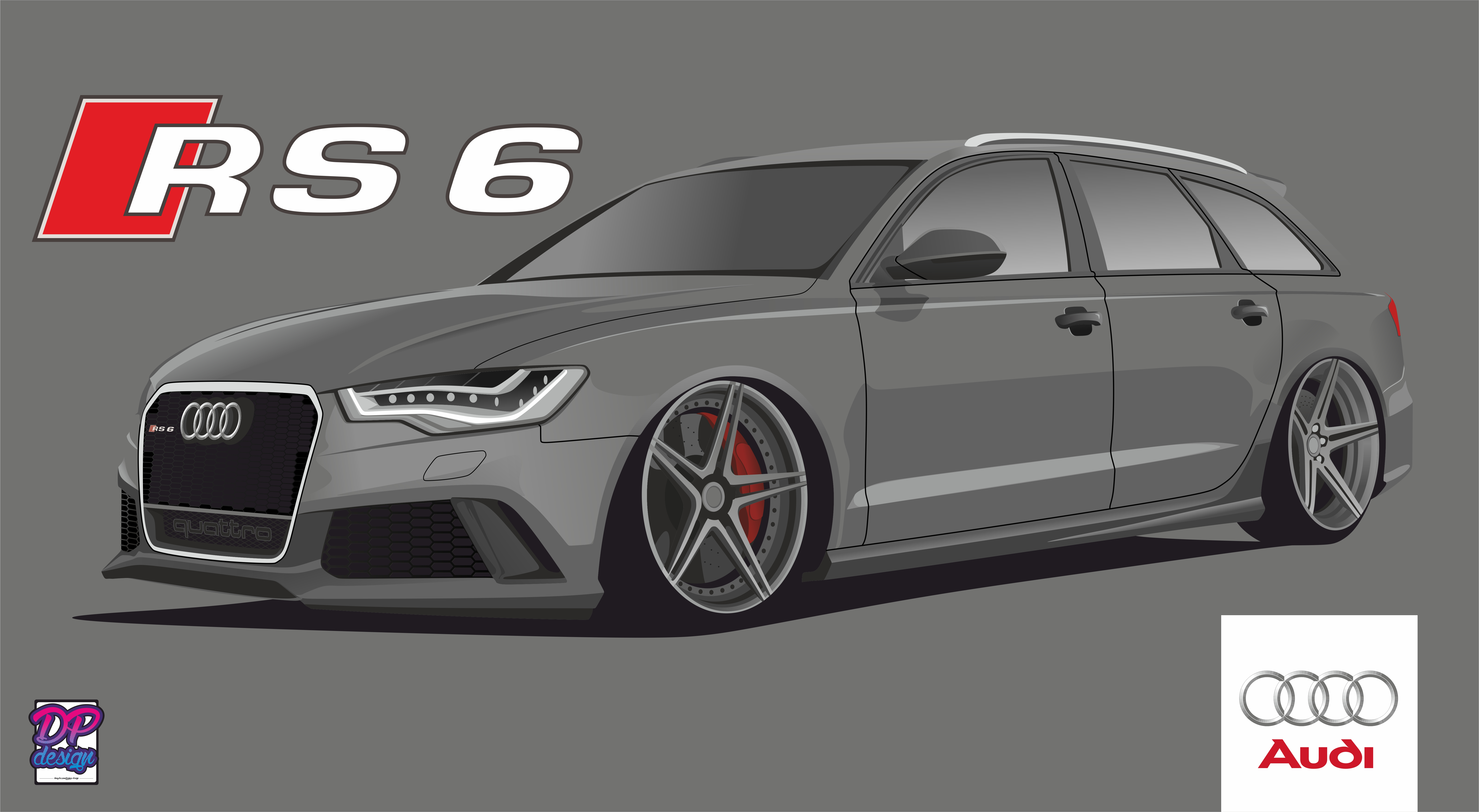 Vector Of Audi RS By DPdesign - Audi car vector