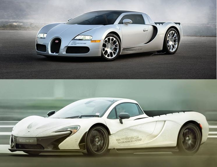 Aston Martin Used Car Ad >> Bugatti veyron and McLaren P1 pickup body renders. I dont ...