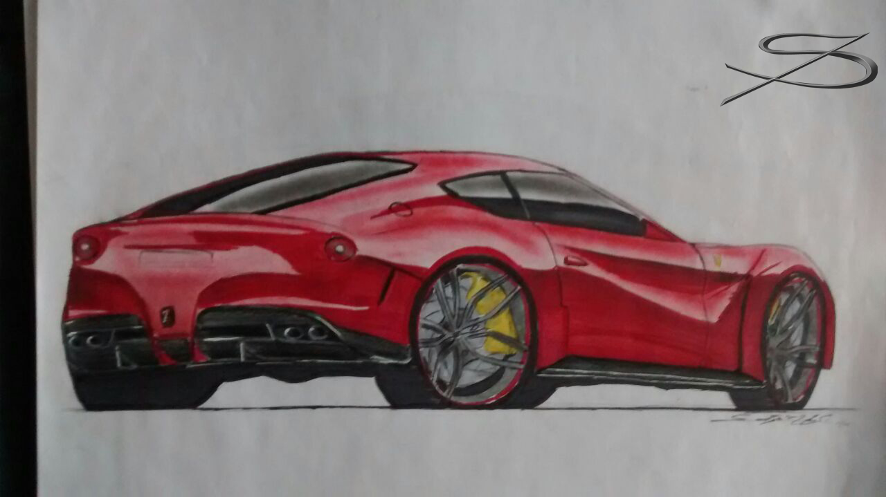 Sketch Ferrari 599 Gto