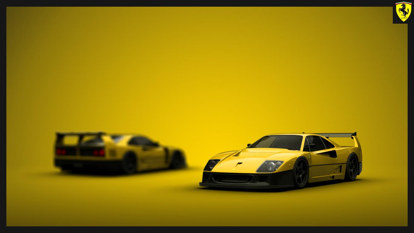 Ferrari F40 Competizione in Yellow. Feel Free to save this