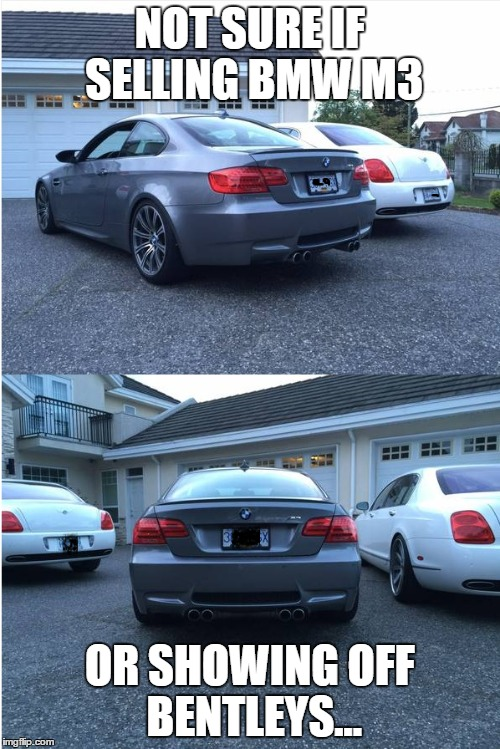 Found this ad on Craigslist for a BMW M3, and the guy was ...