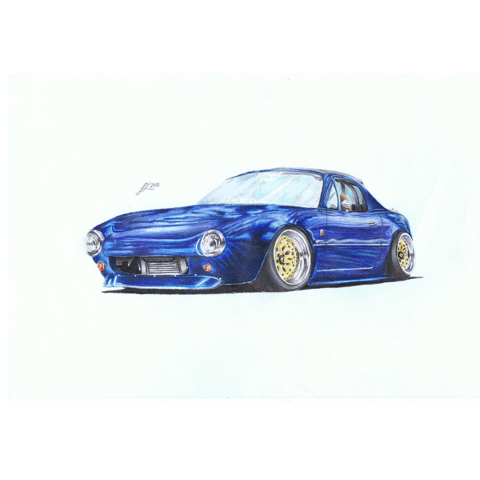 Ultimate Dream Car Stanced Out Miata With Pit Crew Racing Front Bumper Drawing Also On My Instagram Jtlb