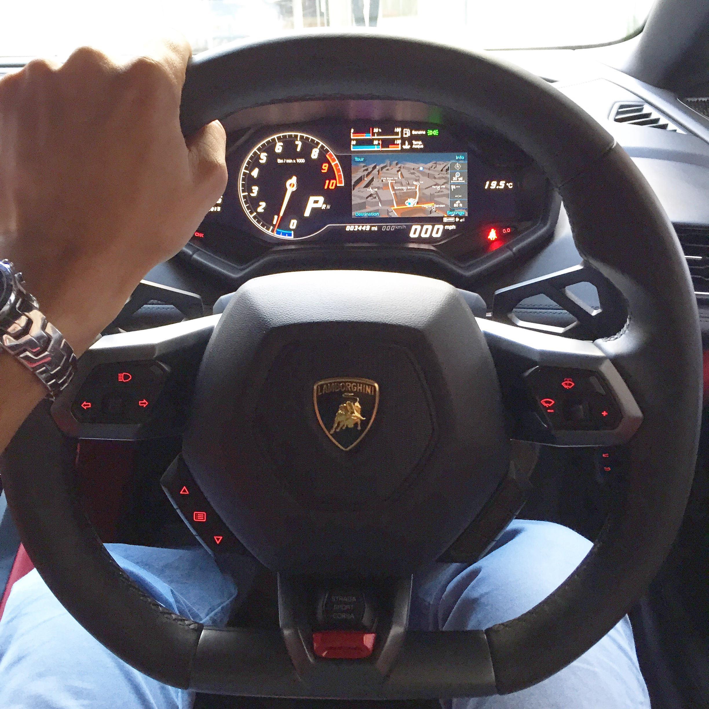 Lamborghini Huracan Cockpit With Obligatory Douchebag