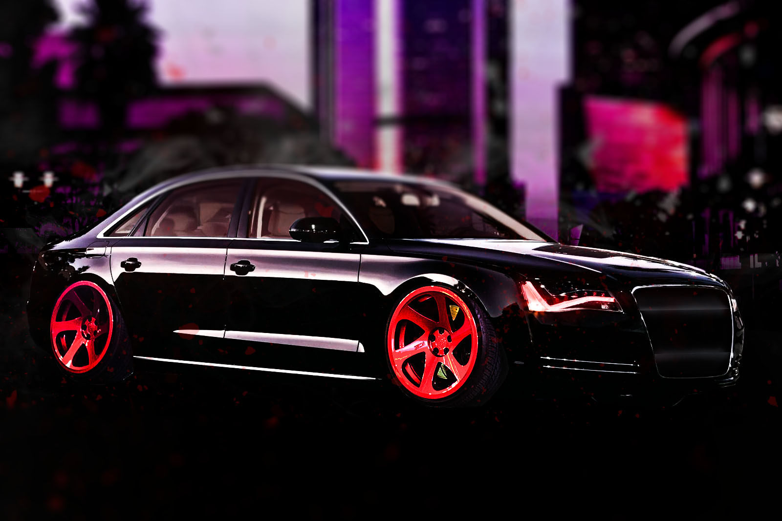 Audi A8 Slammed On Rotiform Rims