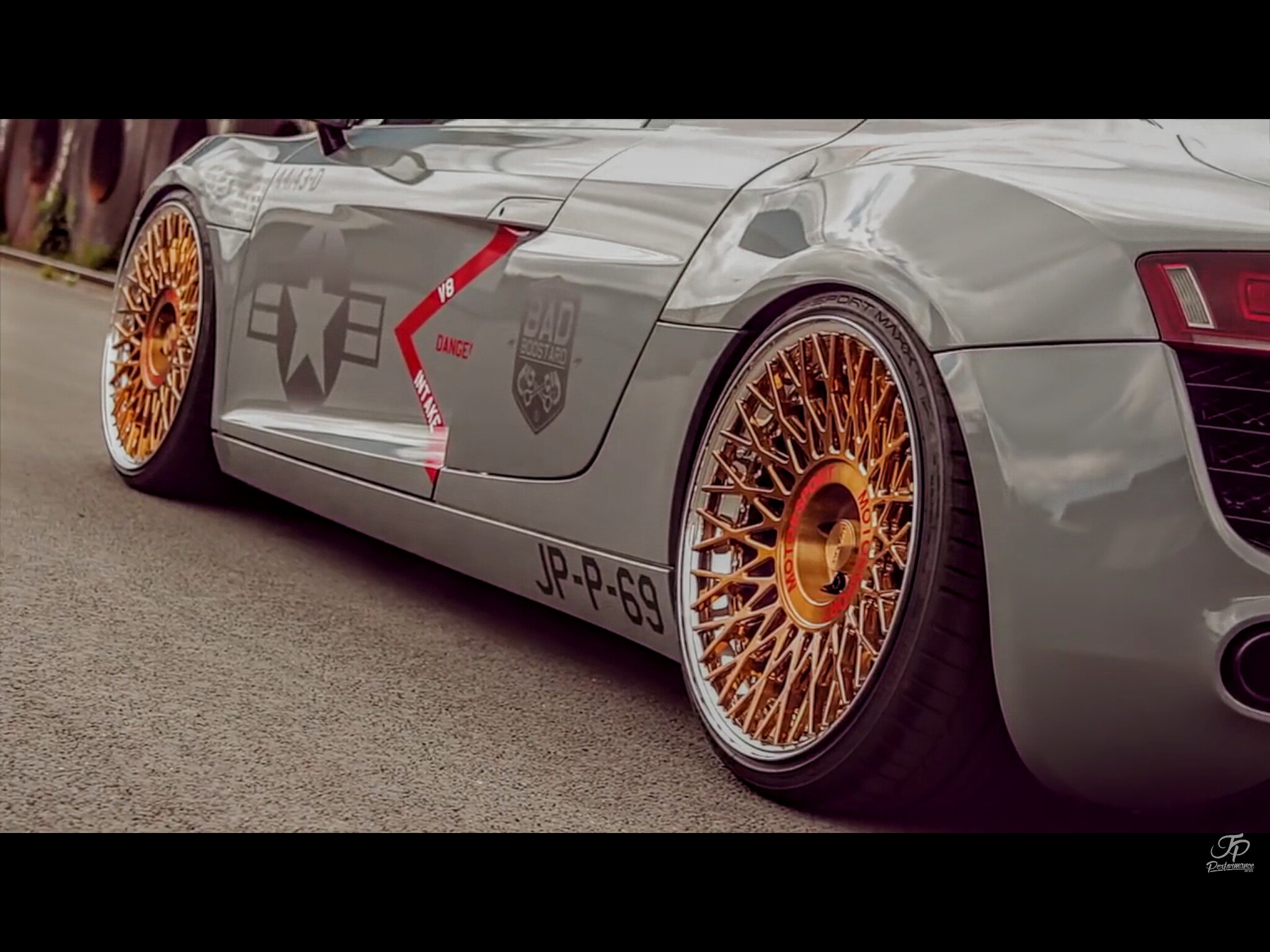 Custom Made Wheels On Audi R8 Made By Messer Wheels And