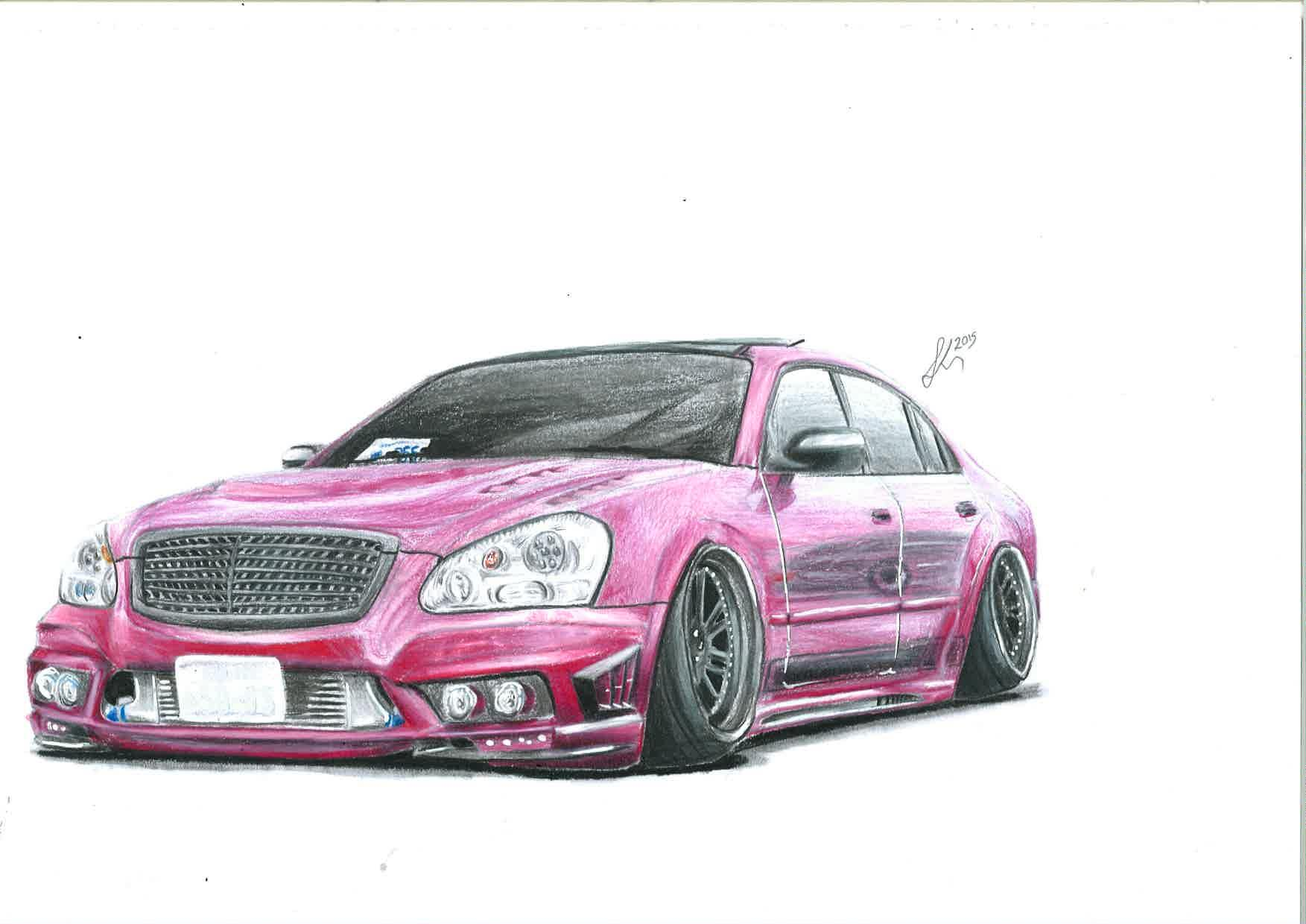 Hey New On Here Massive Fan Of Stanced Cars And Drawing Them Any Comments Are Appreciated Cheers